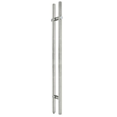 H door pull handle for glass shower door