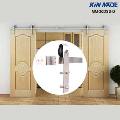 Country Stainless Steel Sliding double sliding door hardware set