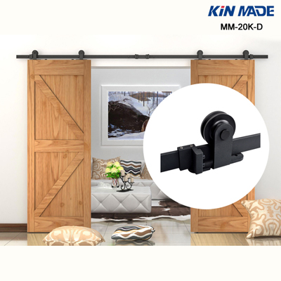 Hanging double barn door sliding hardware kits