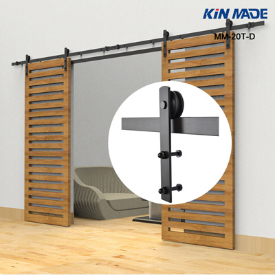 Closet decorative barn door track kits